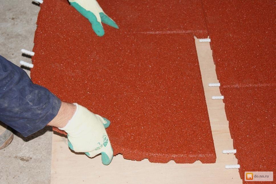Как сделать резиновые плитки