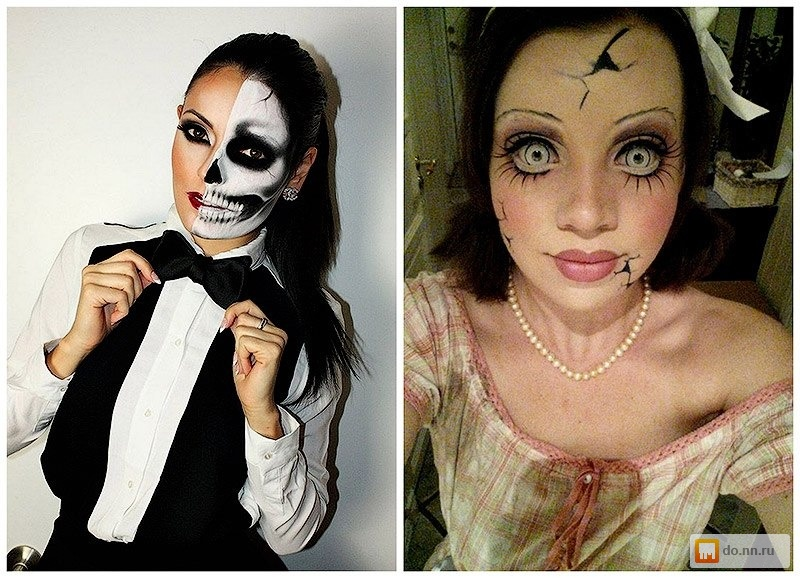 Макияж по проще на хэллоуин девушке