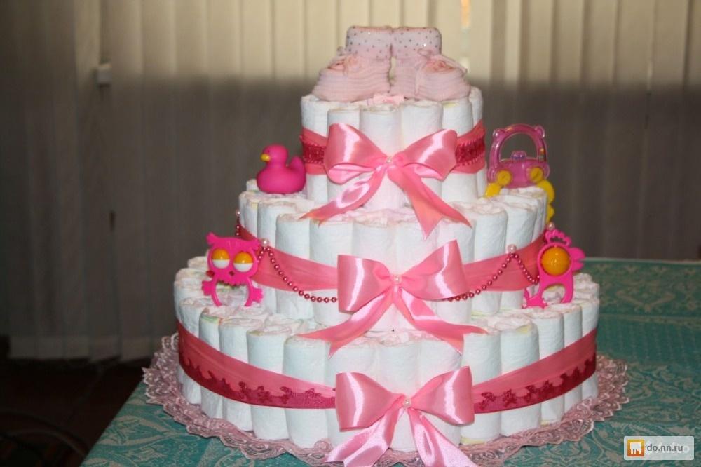 Торты из памперсов для девочки