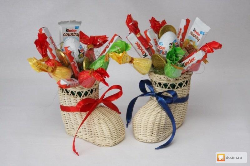 Букеты из конфет детям своими руками
