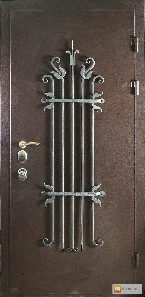 Входные металлические двери со стеклом своими руками