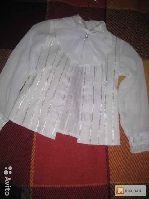 Купить белую блузку для девочки в нижнем новгороде
