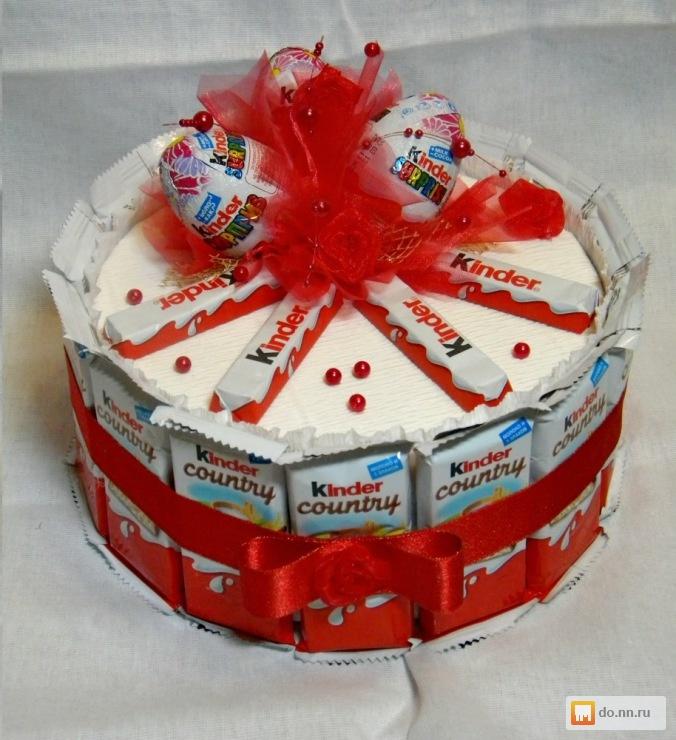 Торт из шоколадок своими руками на день рождения