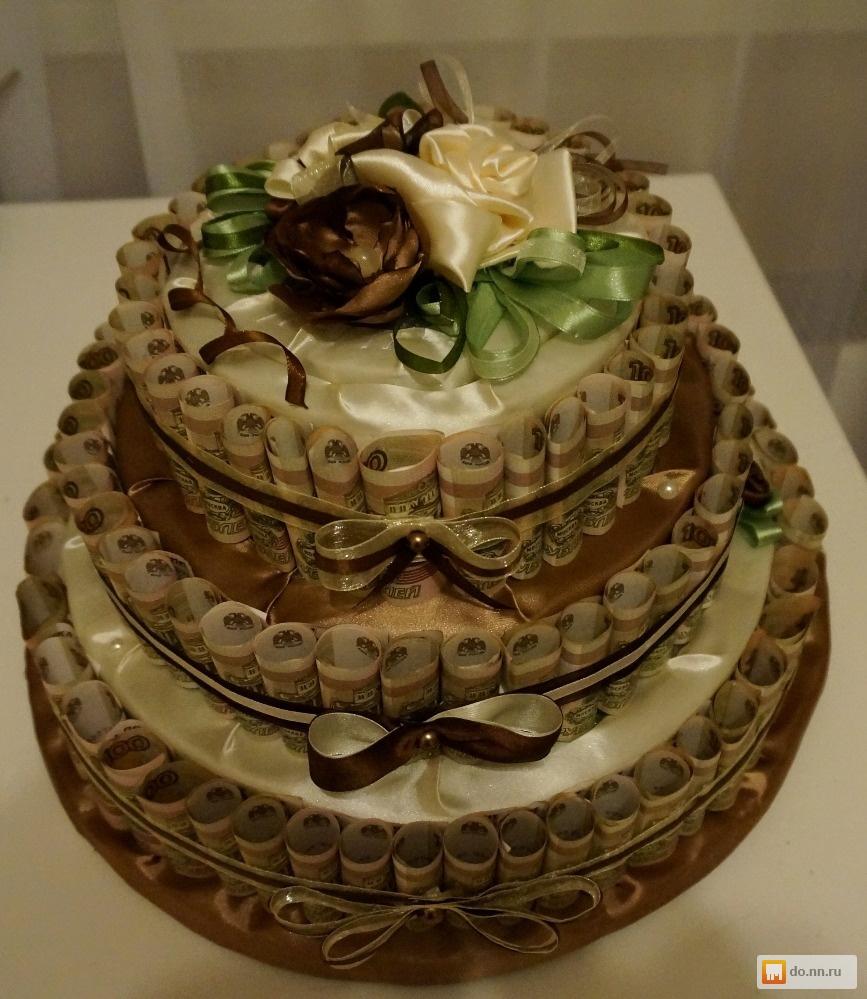 Как сделать торт из денежных купюр