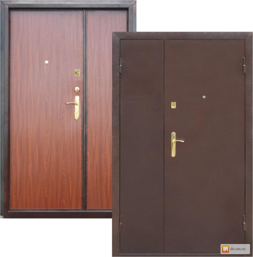 стальная дверь двухстворчатая 1100