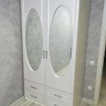 Шкаф 2х дверный жемчужина с зеркалами новый беспла, Нижний Новгород