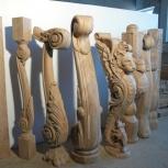 Резные столбы из дерева для лестниц., Нижний Новгород