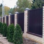 Забор профнастил установка труба монтаж сварка, Нижний Новгород