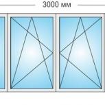 Лоджии ПВХ Трехстворчатые профиль 58мм стеклопакет 32мм, Нижний Новгород