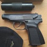 Пистолет пневматический газобалонный мр-654К с фальшглушителем, Нижний Новгород