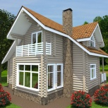 Строительство дома из оцилиндрованного бревна Жаворонок, Нижний Новгород