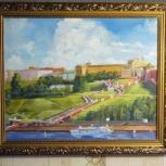 Картина вид на чкаловскую лестницу, Нижний Новгород