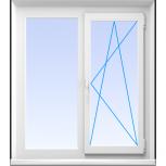 Окна пластиковые двустворчатые профиль алюмин 70мм стеклопакет 24мм, Нижний Новгород