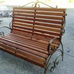 Кованая скамейка с деревянным покрытием из Сибирской лиственницы., Нижний Новгород