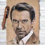 Рисую портреты по фотографии карандашом на тонированной бумаге, Нижний Новгород