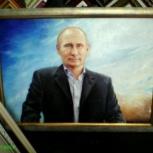 продам картины портрет Путина и городской пейзаж Парижа, Нижний Новгород