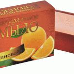Мыло натуральное твердое Апельсиновое, 75 г, Нижний Новгород