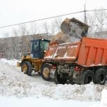 Вывоз снега. Трактор МТЗ 82 с щеткой и отвалом, Нижний Новгород