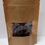 Пакет бумажный крафт дойпак с замком зип лок с прозрачным окном, Нижний Новгород