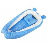 Кокон гнездышко для новорожденных Бэби-гнёздышко Люкс 60x90 с подушкой, Нижний Новгород