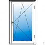 Окна пластиковые одностворчатые профиль 70мм стеклопакет 24мм, Нижний Новгород