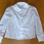 Продам школьную белую блузку на девочку.для начальных классов, Нижний Новгород