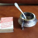 продам антикварную мельхиоровую солонку с ложечкой, Нижний Новгород