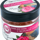 Пена для ванн с морской солью с ароматом розы Тихая бухта, 500 г, Нижний Новгород