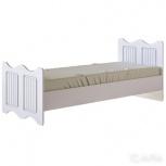 Кровать 800х1900 винтаж с основанием (белый), Нижний Новгород