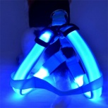 Продам светящуюся голубую шлейку на среднюю собачку, Нижний Новгород