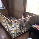 Большой детский деревянный манеж 1,3х2,6м с калиткой для  двойни, Нижний Новгород