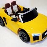 Детский электромобиль audi R8 желтый. Кредит, Нижний Новгород