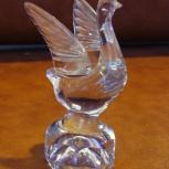 Продам стопку-статуэтку взлетающий лебедь из хрусталя.СССР, Нижний Новгород
