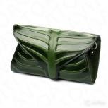 Зеленый Клатч с тиснением натуральная кожа новый, Нижний Новгород