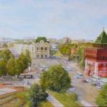 картина площадь минина, Нижний Новгород