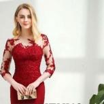 Платье на торжество р. 46-48 красно-вишнёвое в пол, Нижний Новгород