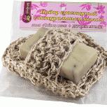 Джутовая мочалка с мылом Крымская роза, 100 г, Нижний Новгород