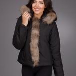 Новая куртка с натуральным мехом,еврозима, Нижний Новгород
