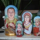 Портреты на матрешках от художника, Нижний Новгород