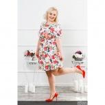 Платье с цветочным принтом Флора PLUS М-189, Нижний Новгород