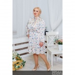 """Атласное платье """"Нежность"""" PLUS М-1032, Нижний Новгород"""