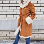 Дубленка зимняя светло-рыжая тосканский ягненок, Нижний Новгород