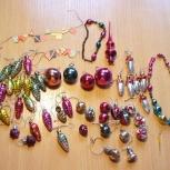 Набор антикварных ёлочных игрушек для ёлки-малютка СССР, Нижний Новгород