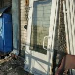 Дверь ПВХ остекленная с доводчиком бу, Нижний Новгород