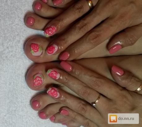 Покрытие гелем своих ногтей на ногах 93