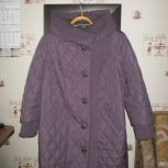 Пальто демисезонное темно-фиолетовое 50-52 р, Нижний Новгород