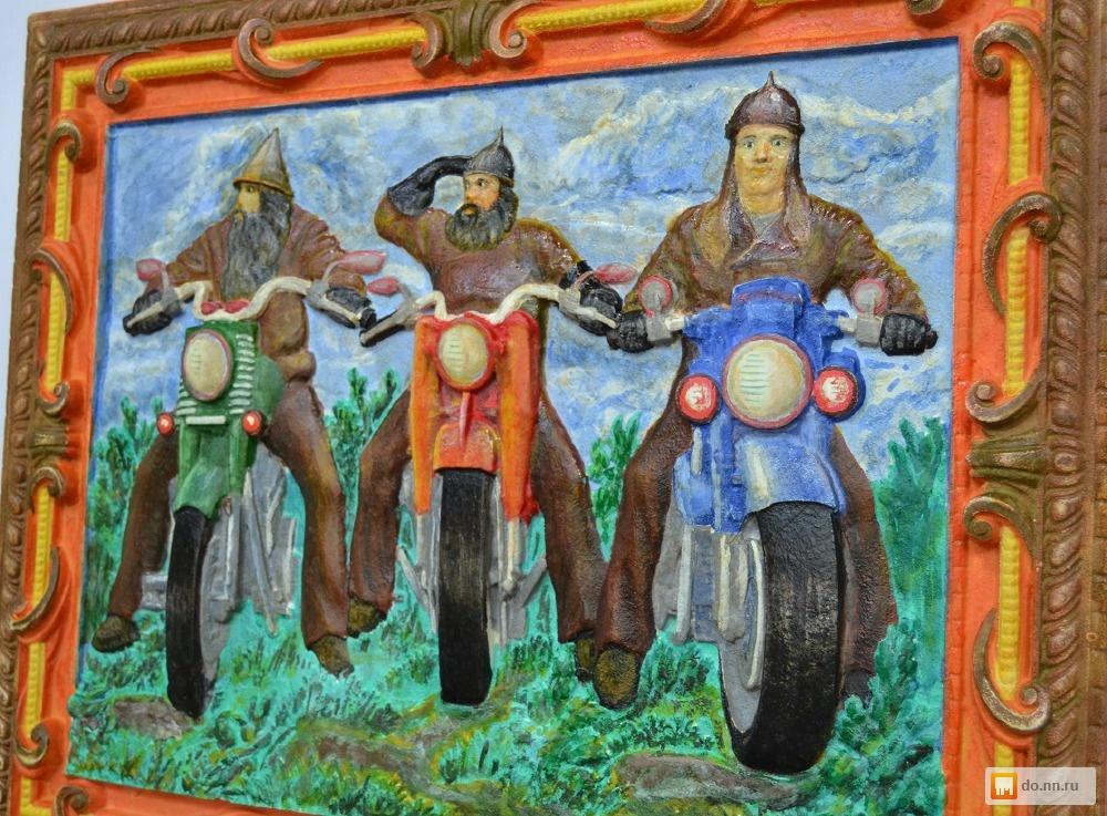 три богатыря на мотоциклах картинка рождения