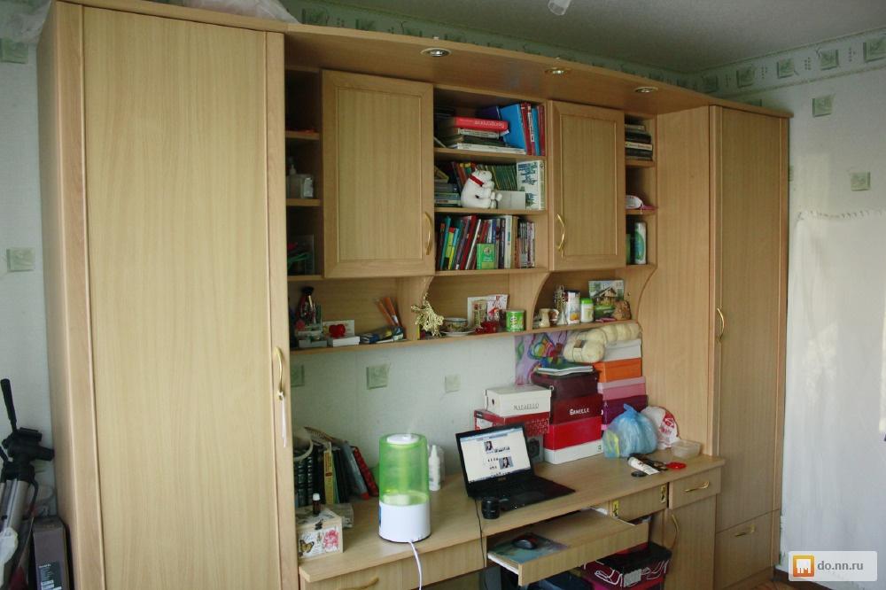 Шкаф - стенка с письменным столом б/у, фото. цена - 10000.00.
