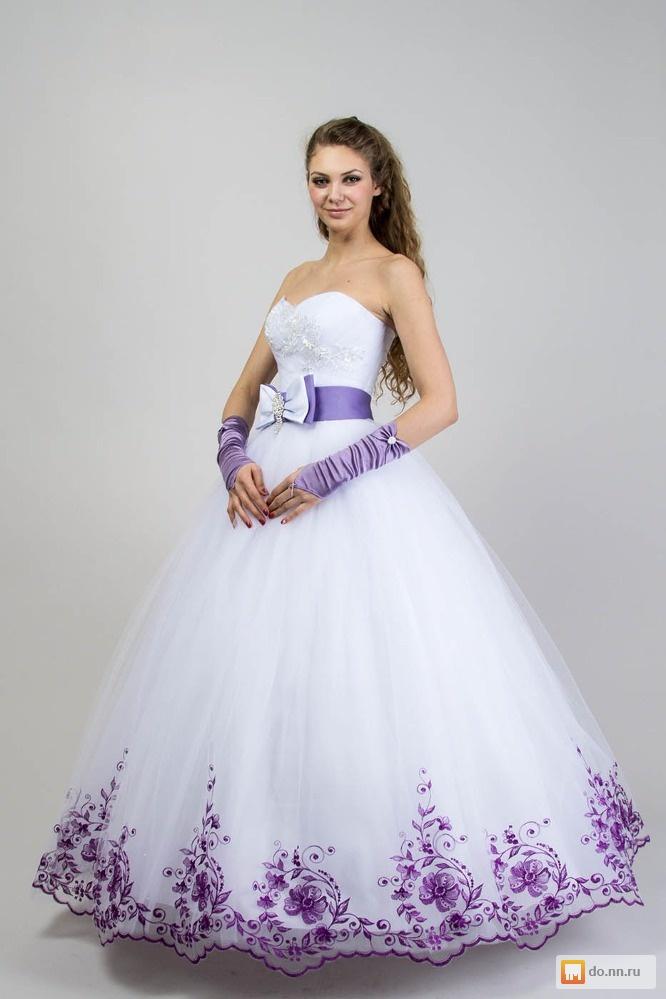 Фото сиреневое свадебное платье