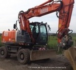 Аренда колесного, полноповоротного экскаватора Hitach ZX 180, Нижний Новгород